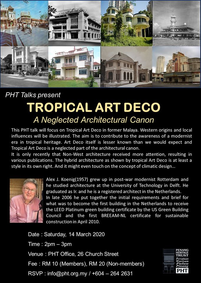 "Talk on ""Tropical Art Deco, A Neglected Architectural Canon"""